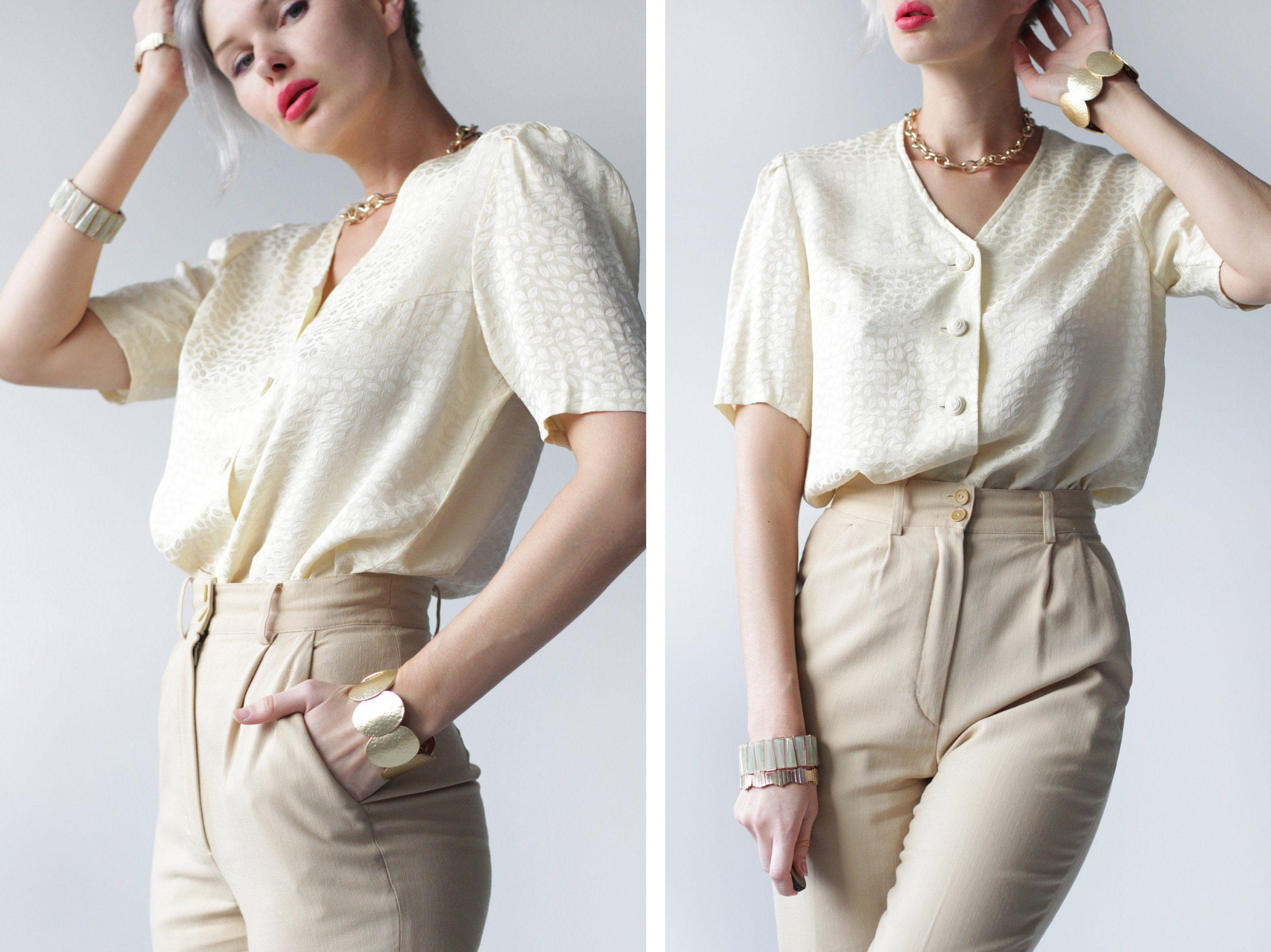 Closet With Women's Silk Blouse